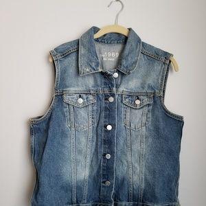 Gap distressed jean vest